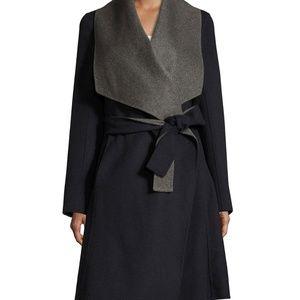 $598 DVF Double Reversable Face Wrap Coat NWT